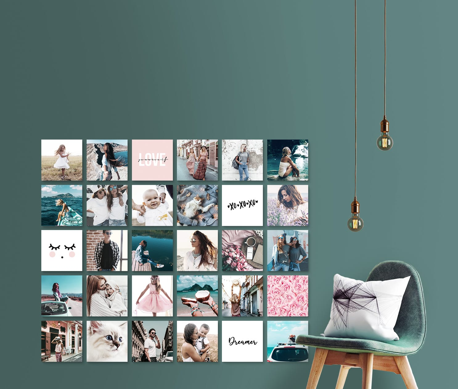 CusttomShapes on your livingroom wall