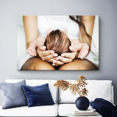 Photo on canvas living room