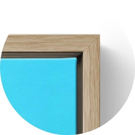 Floating frame bare wood