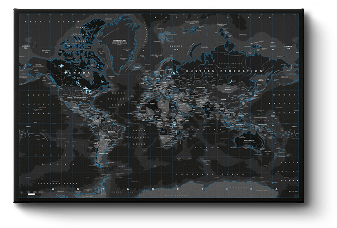 Black Ice World Map