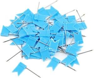 Push pins blue