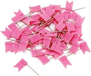 Push pins pink