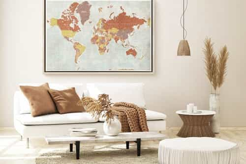 canvas print world map